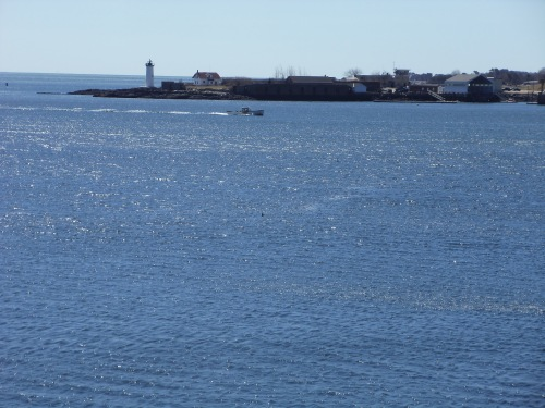 A lighthouse has stood at this site along Portsmouth Harbor since 1771, where fortifications were first erected in 1632. The long dark stonework along the water was part of Fort Constitution. Historically, it was the site of Fort William and Mary, the first armed skirmish of the American Revolution.