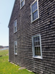 Also on the site is a more traditional New England style of construction -- shingle siding that weathers to gray.