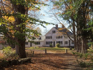 Known as the Powder Major's House because of the gunpowder secreted in its cellar after the attack on Fort William and Mary, the residence of Major John Demeritt in Madbury likely originated around 1723 as the wing now attached to the larger Colonial home.