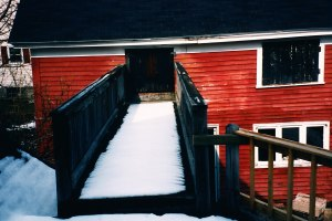 The catwalk also created ice dams that leaked into the kitchen.