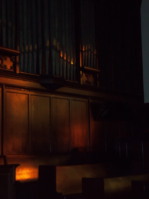 I love the soft, late afternoon light in the chancel.