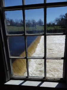 Viewed from inside the Slater Mill ...