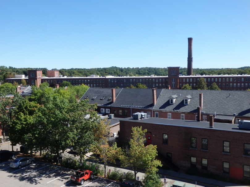 The Cocheco Millworks stretch through downtown Dover.