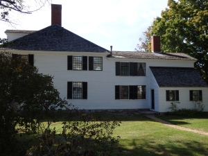 Like many New England houses, additions have kept growing to the original structure.