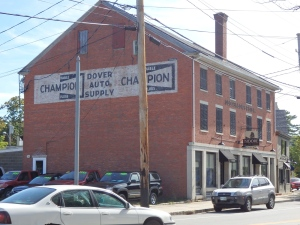 The writing on the wall touts Dover, in New Hampshire just to the west.