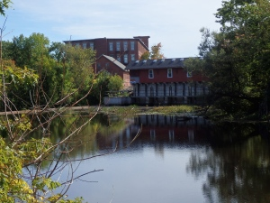 A view of Somersworth from the Salmon Falls River.