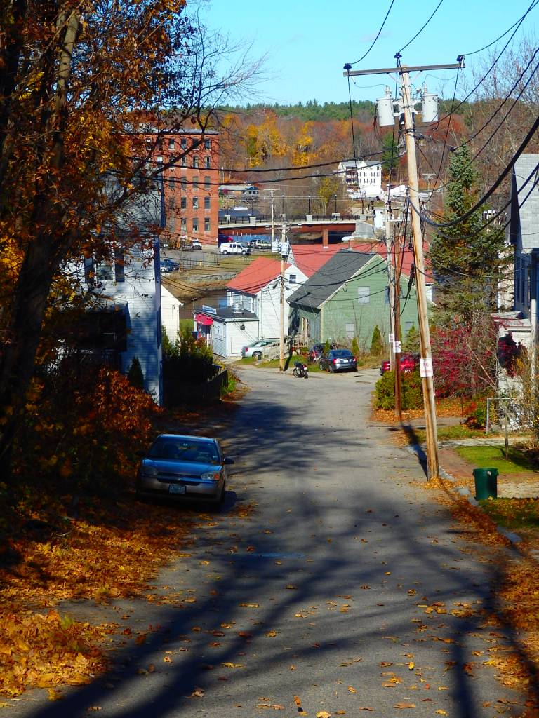 Dover was one of many New England mill towns, and workers typically lived in humble housing. Streets like this are common.