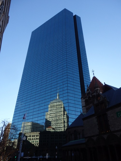 Designed by I.M. Pei, it's the tallest building in Boston. I love how its surroundings reflect in its mirror.