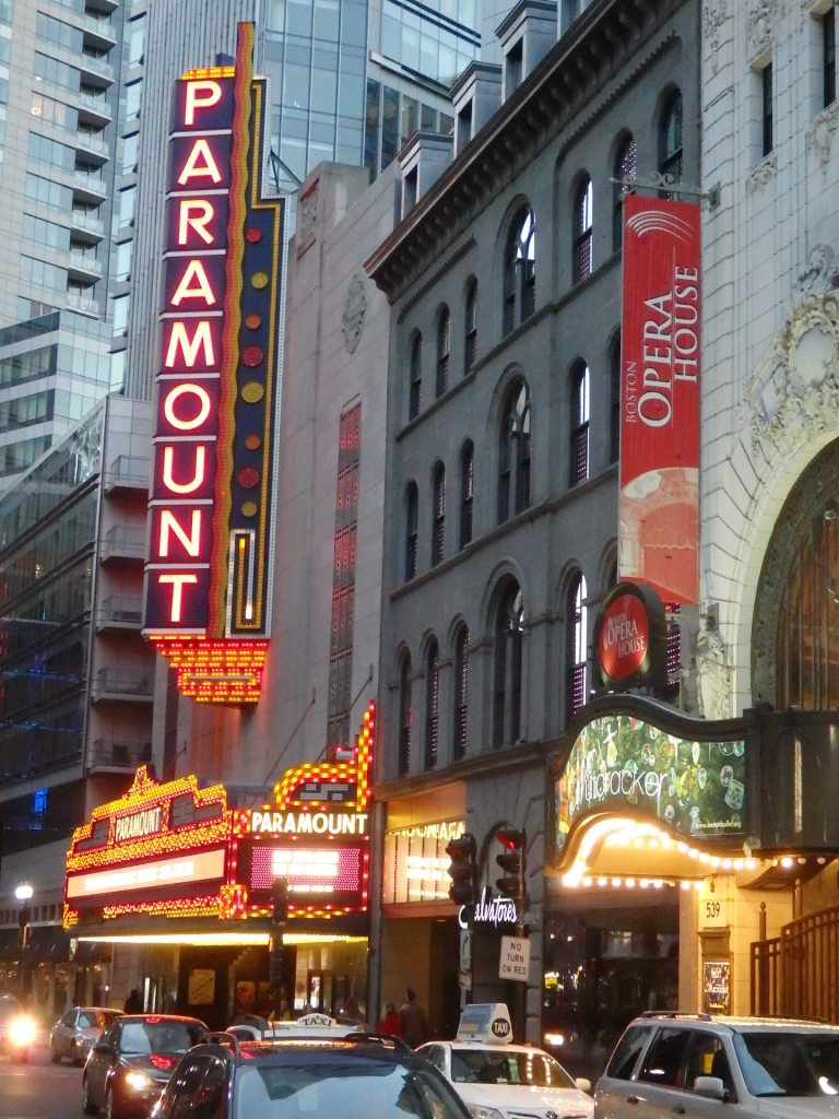 The Theater District is essentially just around the corner from Chinatown.
