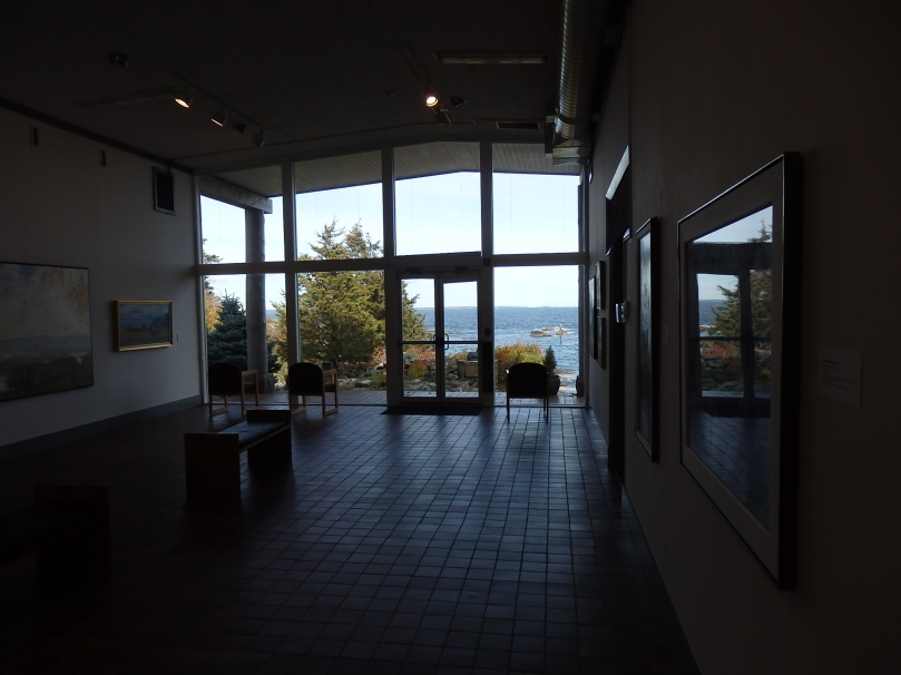 The central gallery looks out over Perkins Cove, where major artists painted some iconic coastal Maine images in the years before the museum was built.