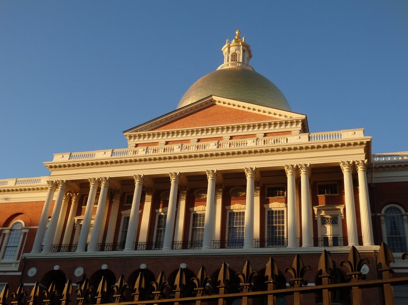 Designed by Charles Bulfinch, who defined much of Boston's architectural style, the Massachusetts State House remains an imposing structure. It faces the Boston Common.