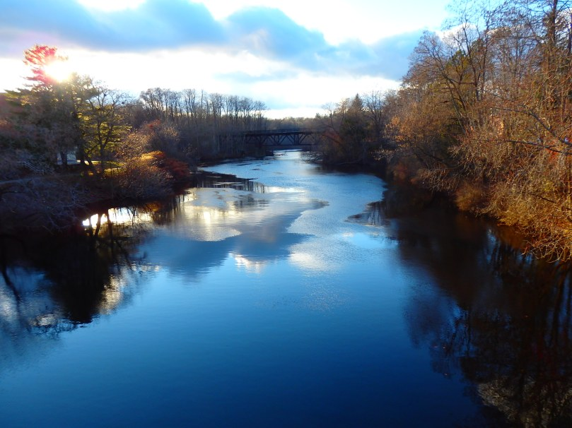 A mid-afternoon view of the Cocheco River running through Dover carries a forewarning of winter.