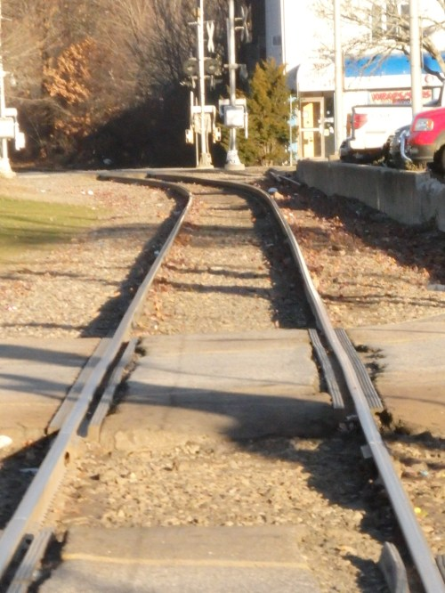 Virtually all of the rail traffic to and from Maine and the rest of the nation passes along these tracks in downtown Dover, along with the four Amrak runs to Boston and back each day.