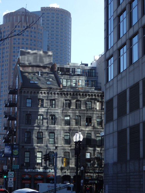 While much of the surrounding financial district of downtown Boston is rising ever higher in the sky, some of the older buildings hold their own, adapting to change.